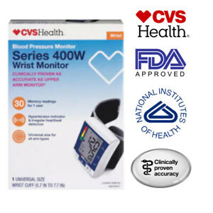 CVS Health Automatic Wrist Blood Pressure Monitor Series 400W One Size Fits All