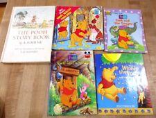 5 Mixed Lot Pooh Books Catch Heffalump Pooh Story Book Dragon Honey Tree