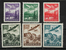 Slovakia 1939, Air Mai, Scott # C1-C6, VF Mint Hinged*OG (MB-11) ,Lot-2