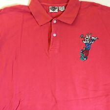 Vintage 1994 Acme Clothing Mens Coral Bugs Bunny S/S Golf Polo Shirt Size XXL