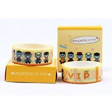 KPOP BIGBANG G-DRAGON SEUNGRI TAEYANG DIY Scrapbook Maksing Washi Tape Stickers
