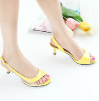 Women Transparent Sandals Fish Mouth Middle Heel Open Toe Party Prom Shoes