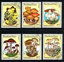Champignons Burkina Faso (7) série complète de 6 timbres oblitérés