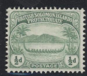 British Solomon Islands Edward VII 1/2d green stamp (SG8) dated 1908 mint