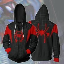 Spiderman Into the Spider Verse Miles  00006000 Morales Cosplay Hoodie Jacket Pullover