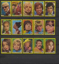 Nice Complete E-Set 20 Movie, Radio and TV Stars Dutch Vintage Matchbox Labels