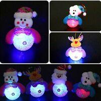 luminous Christmas Snowman Ornaments Festival Party Xmas Tree Hanging Decoration