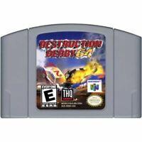 Destruction Derby 64 Authentic Nintendo 64 N64 Cartridge *CLEAN VG