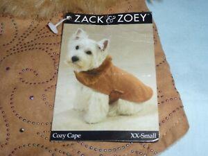DOG/Pet  COZY CAPE   by Zack & Zoey   size XXSmall  NWT  irridescent scroll