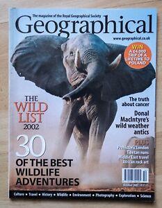 National Geographic magazine - October 2002