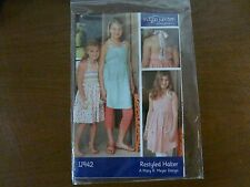 Indygo Junction 942 Amy Barickman Girls restyled halter dress sewing pattern