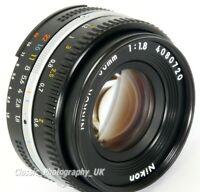 NIKKOR 50mm 1:1.8 Nikon Ai-S PANCAKE Mark 3 SHARP Prime Lens for FILM & Digital
