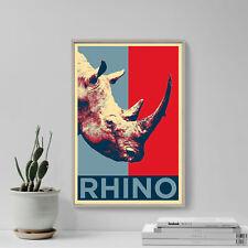 Rhinoceros Art Print 'Hope' - Photo Poster Gift - Animal Lovers Rhino