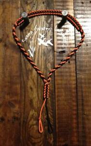 Turkey / Deer / Duck / Predator Call Paracord Lanyard (orange & black) Hand Made