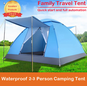 Quick Set Up Camping Tent Ship Waterproof Tent 2-3 Persons Tent Safe Firm Open A