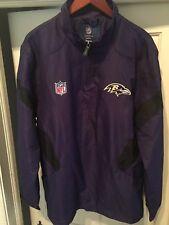 Men's Reebok On-Field Baltimore Ravens 1/4 Zip Purple Pullover Jacket L New NWT