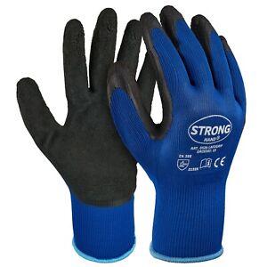 Schwarze Arbeitshandschuhe LAFOGRIP Stronghand mit Grip Latexhandschuhe Gr. 8-11