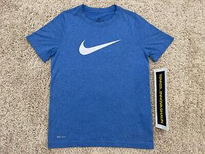 Nike Boys Royal Heather Legend Dri-FIT Polyester T-Shirt S Small unisex girls