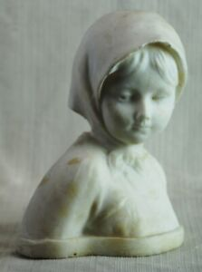 Marble Bust of a Girl with a Scarf