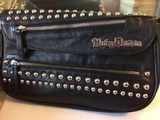 Harley Davidson Studded Black Leather Handbag Purse Shoulder Bag