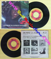 LP 45 7'' DENISE LA SALLE Freedom to express yourself I get what i no cd mc dvd*