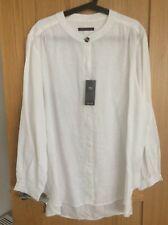 Marks & Spencer Ladies Pure Linen Grandad Shirt White 24 BNWT