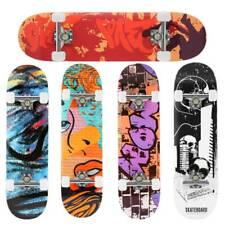 Skateboard 31 Zoll Cruiser Funboard Komplette Ahornholz Longboard Kinder ABEC-7