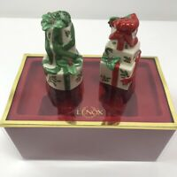Lenox Holiday Boxed Salt Pepper Shakers Christmas Presents #6146203 New