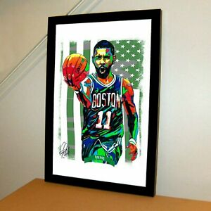 Kyrie Irving Boston Celtics Basketball Sports Poster Print Art 11x17
