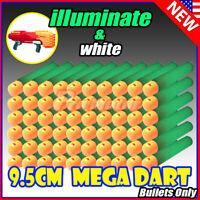 illuminate Refill Foam Bullet Darts 9.5cm For Nerf N-Strike Elite Mega Toys Gun