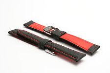 Men's Hadley-Roma 18mm Tela tutti i giorni Carry Watch Strap-rosso MS744