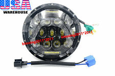 """7"""" Round 75W LED Headlight Replacement with DRL Low/High Beam Black (Pack of 1)"""