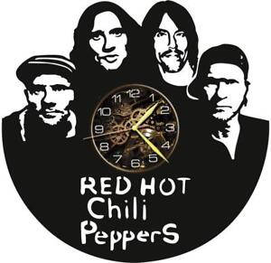 Red Hot Chili Peppers Vinyl Record Wall Clock Living Room Home Decor Gift Idea