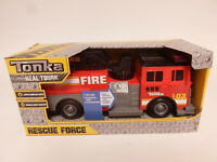 Tonka Red Fire Truck Rescue Force Lights and Sounds 12-inch Ladder Truck