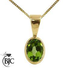 Peridot 9 Carat Yellow Gold Fine Necklaces & Pendants