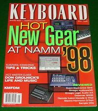 1998 KMFDM, KURZWEIL K2000/K2500 Keyboard Tips, DON GROLNICK Magazine EXC COND'N