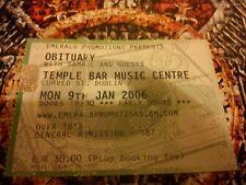 OBITUARY SAMAEL Death Metal Live Concert Dublin Ireland 2006 Memorabilia Ticket