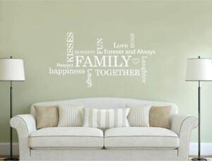 Family Words Cloud Wall Sticker | Family Wall Art | Family Wall Sticker
