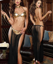 4 Piece Arabian Nights Belly Dancing Harem Bra Pants String Handcuff To Size 12