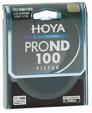 Genuino Hoya 52mm PRO nd100 FILTRO. Multi-Coated Glass. 6.7 STOP Neutral Density
