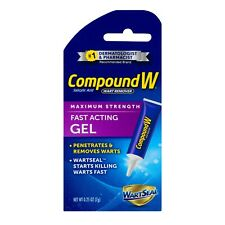 New Compound W Wart Remover Fast Acting Gel Maximum Strength 0.25 Oz