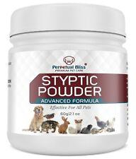 60g Perpetual Bliss STOP BLEEDING Nails Claw Dog Cat Coagulant Styptic Powder
