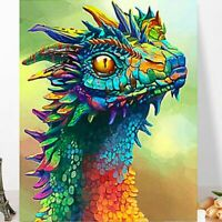 Colourful Little Dinosaur Vivid DIY Kids FUN Paint By Numbers Canvas Art