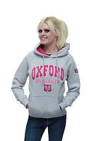 Grey - Pink Oxford University Hoodie - Union Jack- Sweatshirt - Women UK LONDON