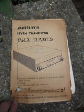 VINTAGE repanco sette TRANSISTOR Autoradio manual.build piani, ecc.