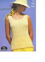 Jaeger Bermuda approx. dk KNITTING PATTERN lacy top 5410c