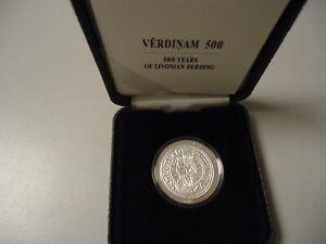 LETTLAND 2015 - 5 Euro in Silber, PP - 500 Jahre Livonian Ferding