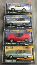 4x New-Ray Spritzguss 1:43 Modell - u.a Mercedes 350SL & Jaguar XJS - unbespielt