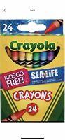 Crayola Crayons Sealife 24 Ct