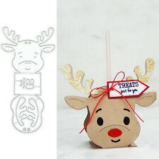 Christmas Elk Deer Metal Cutting Dies Stencil Scrapbooking DIY Paper Making
